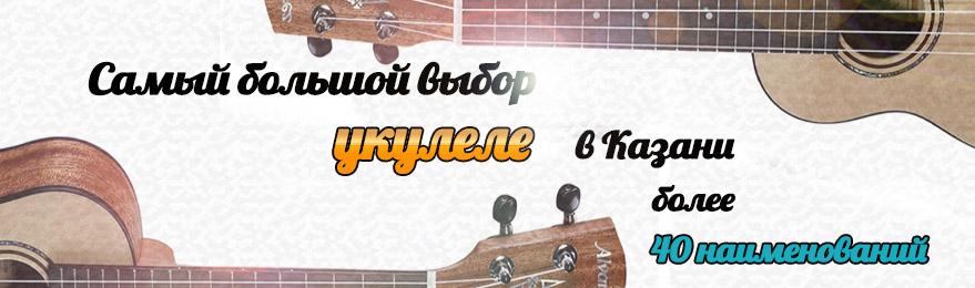 Большой выбор укулеле в Казани в наличии