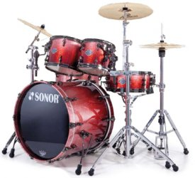 Sonor ASC 11 Stage 1 NM Black Red Diamond black nickel HW