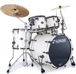 Sonor ASC 11 Stage 1 NM Creme White black nickel HW