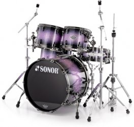 Sonor ASC 11 Stage 1 NM Purple Diamond black nickel HW