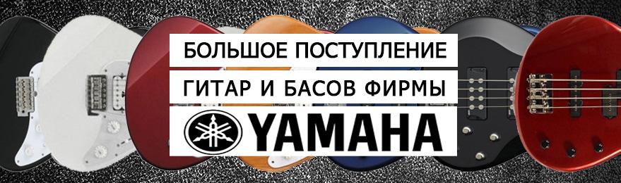 Большое поступление гитар акустических, классических, электро и бас от фирмы Yamaha. Купить в Казани